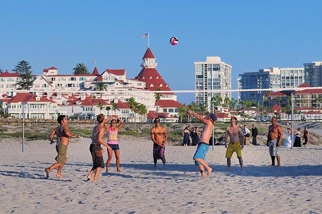Volleyball on Coronado Beach; photo courtesy Brett Shoaf