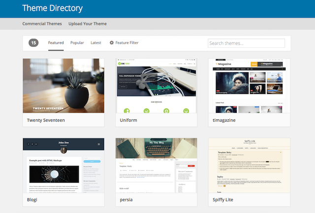 Wordpress themes image