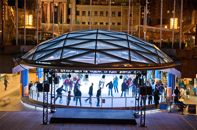 Robson Square ice rink