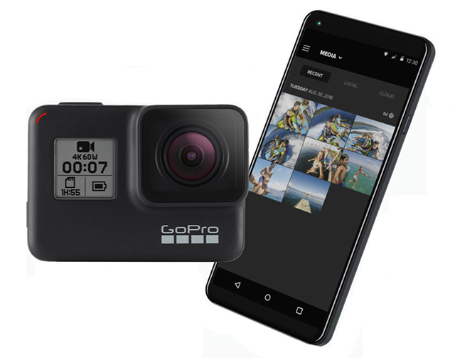 GoPro HERO7 with phone