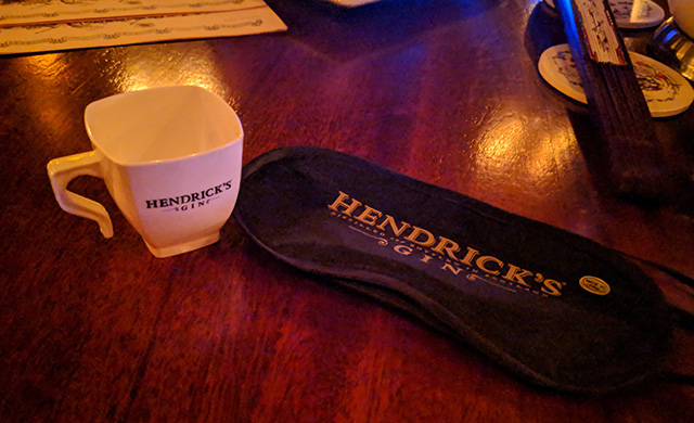 In anticipation of Hendrick's Orbium tasting