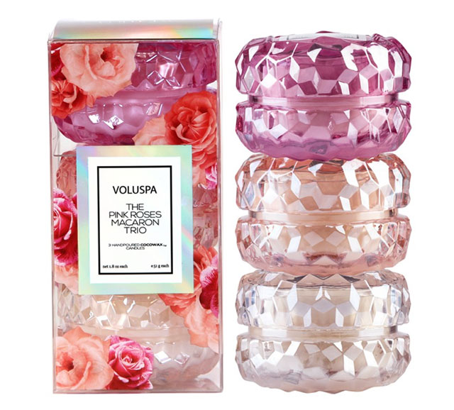 Roses 3 Macaron Candle Gift Set