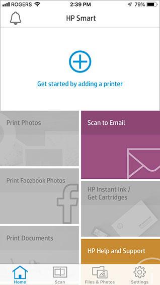 HP Tango Smart screen shot