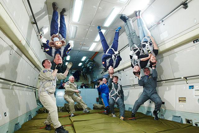 4th Parabola During Zero G flight on board the Ilyushin 76 MDK of Gagarin Cosmonaut Training-Center,-Star-City,-Moscow.-Photo-Copyright-Yuri-Glazkov.-April-2016