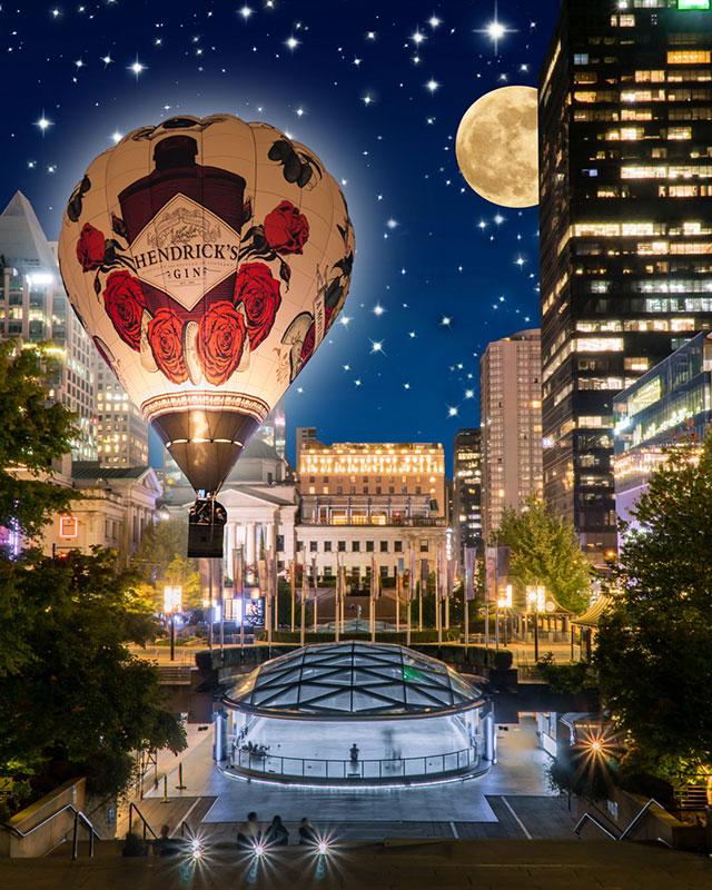 Hendrick's Gin hot air balloon Vancouver