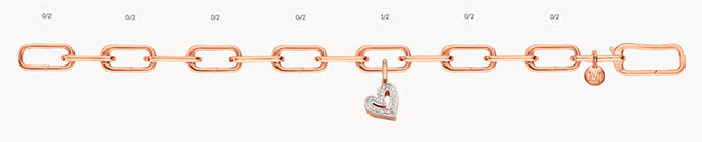 Alta Capture Charm Bracelet, Alphabet Heart Diamond Pendant Charm