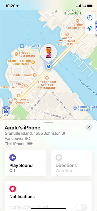 Phone location