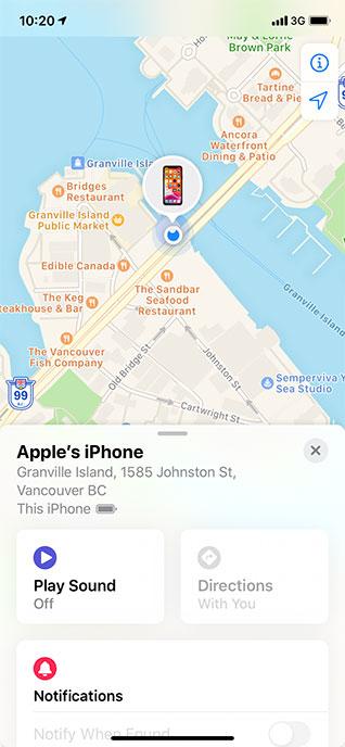 Phone location