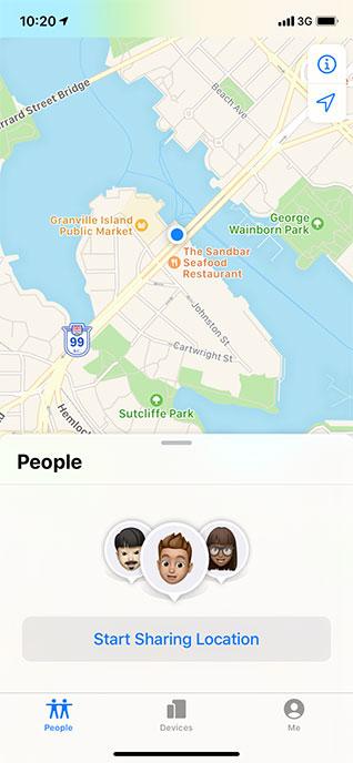 Sharing Location