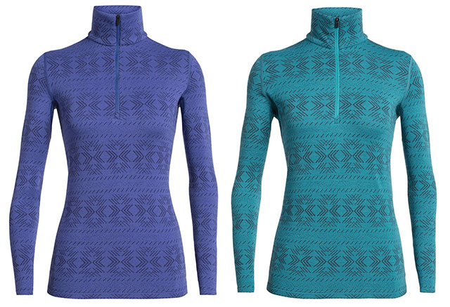 Icebreaker 250 Vertex Long Sleeve Half Zip Crystalline merino sweater