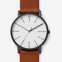 Skagen Men's Signatur Brown Leather Watch