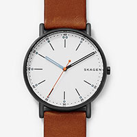 Skagen Men's Signatur Brown Leather Watch