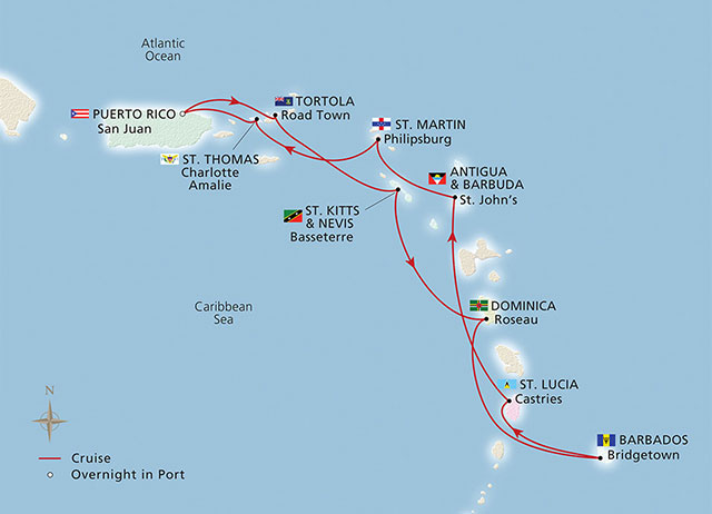 West Indies route
