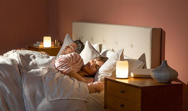 Glow couple sleeping