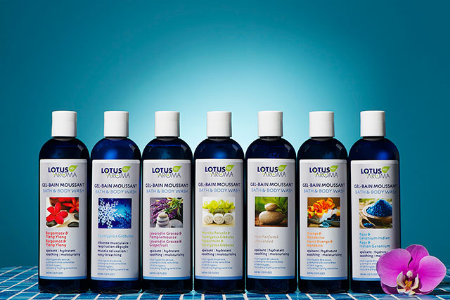 Lotus Aroma bath & body washes