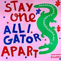 Alligator mural Gastown