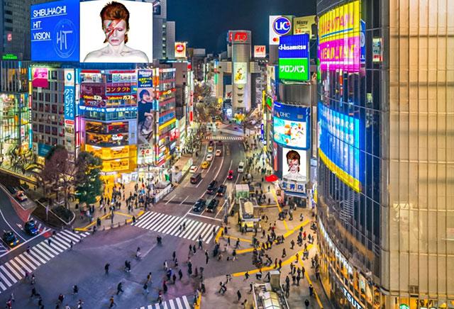 Bowie Tokyo Cityscape
