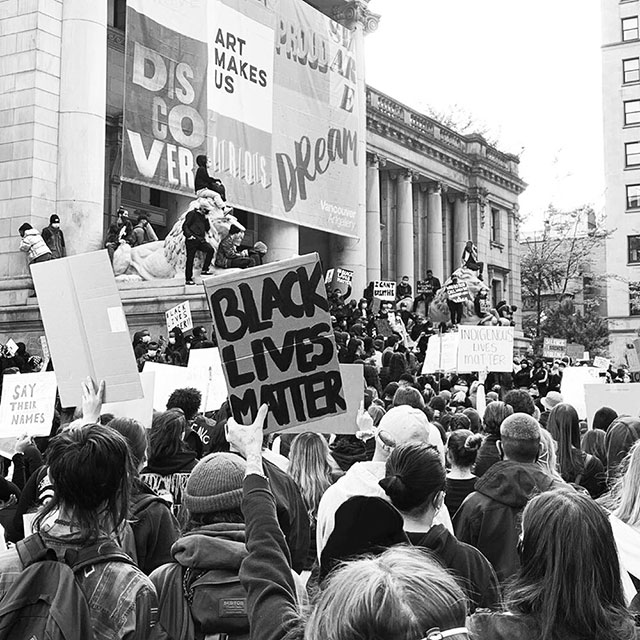 Black Lives Matter rally Vancouver