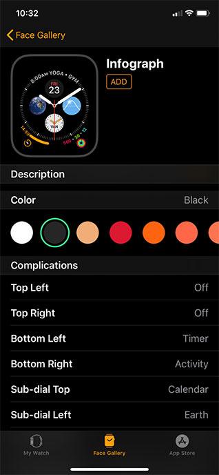Apple Watch Infograph face
