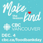 CBC Vancouver Open House and Food Bank Day Returns December 4