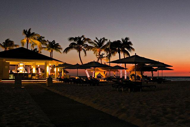 SandBar at night, Aruba