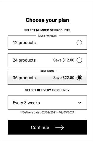 Evive Choose Subscription plan