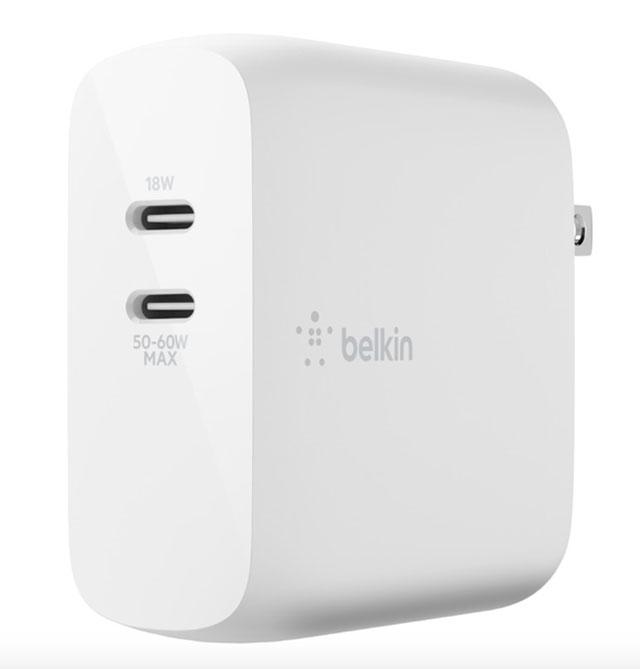 BOOST↑CHARGE™Dual USB-C GaN Wall Charge