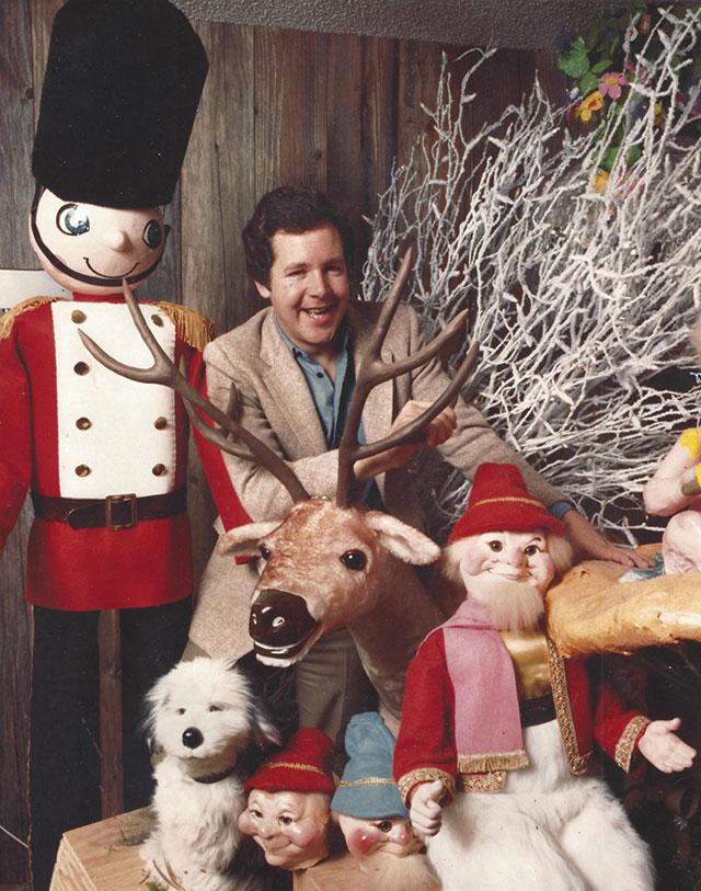 David Rowland with Woodward's Figurines