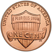 US Penny, back