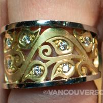 Stittgen Jewels gold and diamond ring