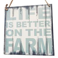 Life is Better on the Farm sign, Hopcott Meats