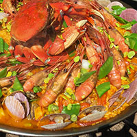 Paella and Rose Patio Party at Ancora