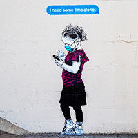 Time Alone mural by iHeart